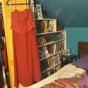 Formal boned-bodice dress size 14